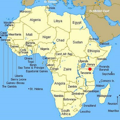 map africa – CLIMBING KILIMANJARO
